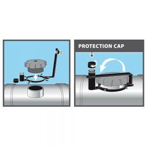 Предпазител за резервоар, устройство против кражба на гориво 80мм