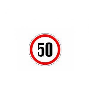 СТИКЕР 50 KM/H
