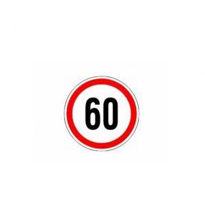 СТИКЕР 60 KM/H