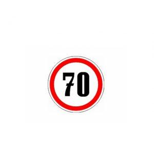СТИКЕР 70 KM/H