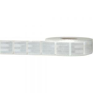 Светлоотразително тиксо прекъснато – бяло