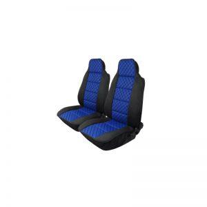 Комплект Универсална кожена тапицерия тип масажор  син с черен шев