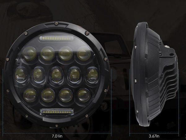LED Фар 7 инча за вграждане на джип 12V