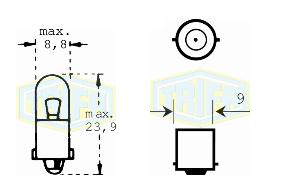 Крушка 24V 2W