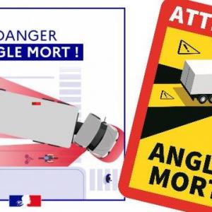 """ЗАДЪЛЖИТЕЛНИ СТИКЕРИ ЗА ФРАНЦИЯ """"Angles Morts"""" -5бр."""
