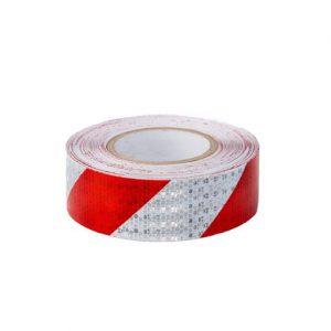 Светлоотразително тиксо- червено/бяло
